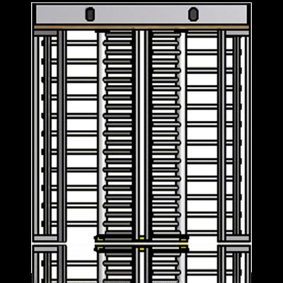 Imagem de Molinete DUPLO em aço inox ou chapa lacada [AST325D]