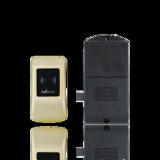 Fechadura de cacifo com autenticação através de RFID Mifare para utilização no sistema de gestão de hotel.