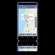 aplicação mobile de gestão de froas android e ios para telemóveis e tablets fleet.track