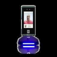 Leitor de acessos Multi-biométrico com suporte / torre de balcão / secretária / torre pedestal, Terminal de acessos e/ou assiduidade com autenticação facial, impressão digital, cartão RFID e PIN.