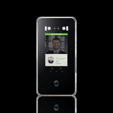 Leitor de acessos facial de exterior com opção suporte pilarete, Terminal de acessos e/ou assiduidade com autenticação facial de esterior, cartão RFID, Leitor de acessos facial para torniquete, moliete, barreiras,portas