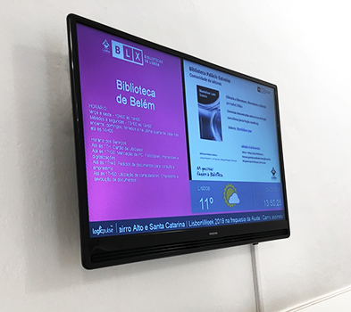 Corporate TV and digital signage for Libraries, Portugal, Angola, Mozambique